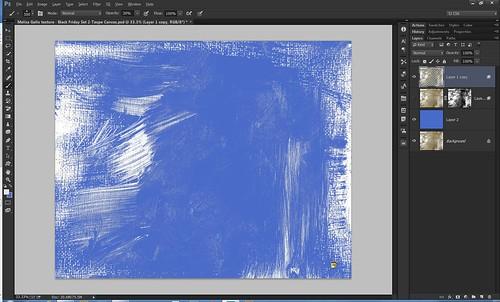 Screenshot of texture added to mushroom image