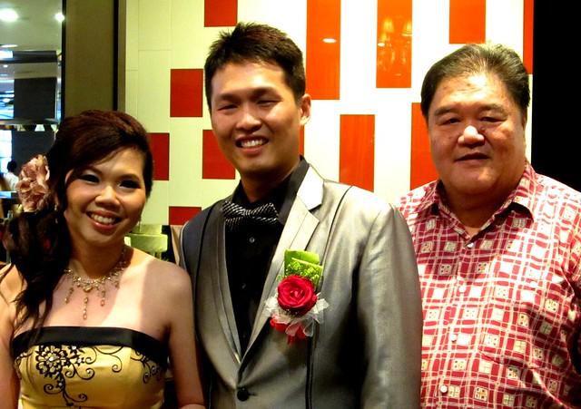 The bride & groom & me
