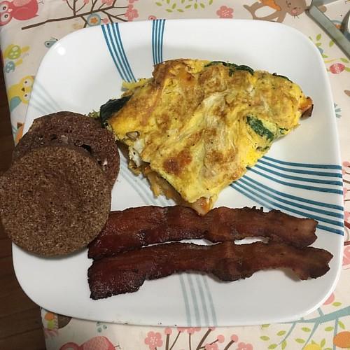Tried a new keto breakfast muffin recipe! #keto #bacon #breakfast #muffin #lowcarb #yum