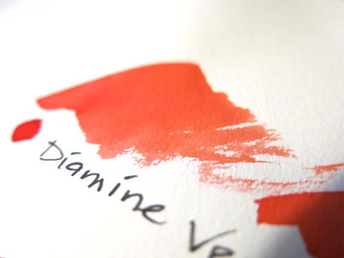 Diamine Vermillion Swatch