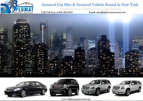 Armored Cars for Rent in New York by diplomatarmored