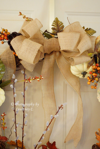 Fall Harvest Wreath Bow