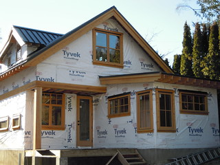 Dec 8 - back of house with exterior window trim
