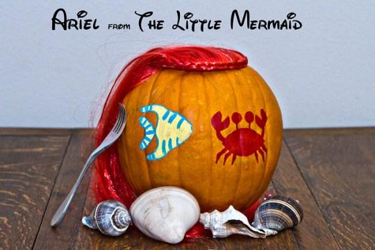 Ariel pumpkin