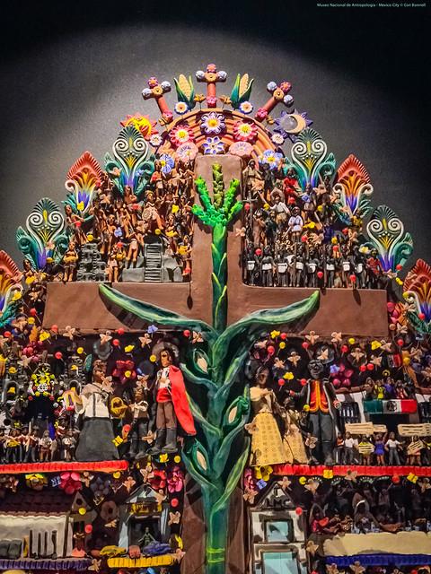 Mesoamerican Tree of Life in the Museo Nacional de Antropología - Mexico City