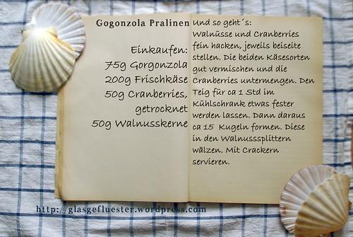 Einkaufszettel Gorgonzola Pralinen by Glasgefluester