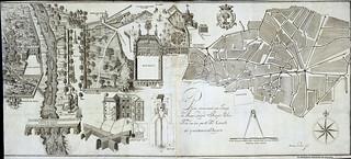 Madrid, Alcantarillado, Plano demostrado por Joseph de Arze, 1734