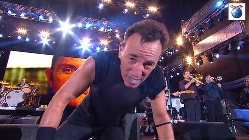 "Bruce Springsteen during ""Tenth Avenue Freeze-out"" at Saturday night's Rock in Rio Festival in Rio de Janeiro, Brazil. (via Facebook)"