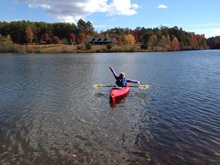Beth kayaking