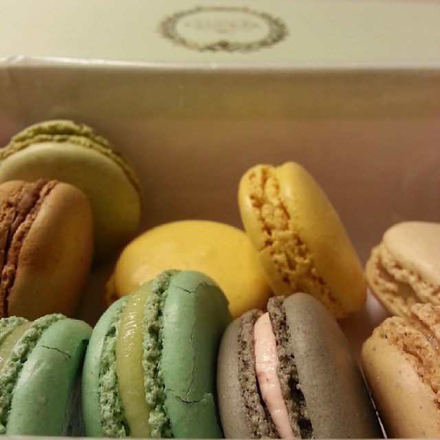 Pretty little happy french cookies!  #macarons #Laduree #Paris