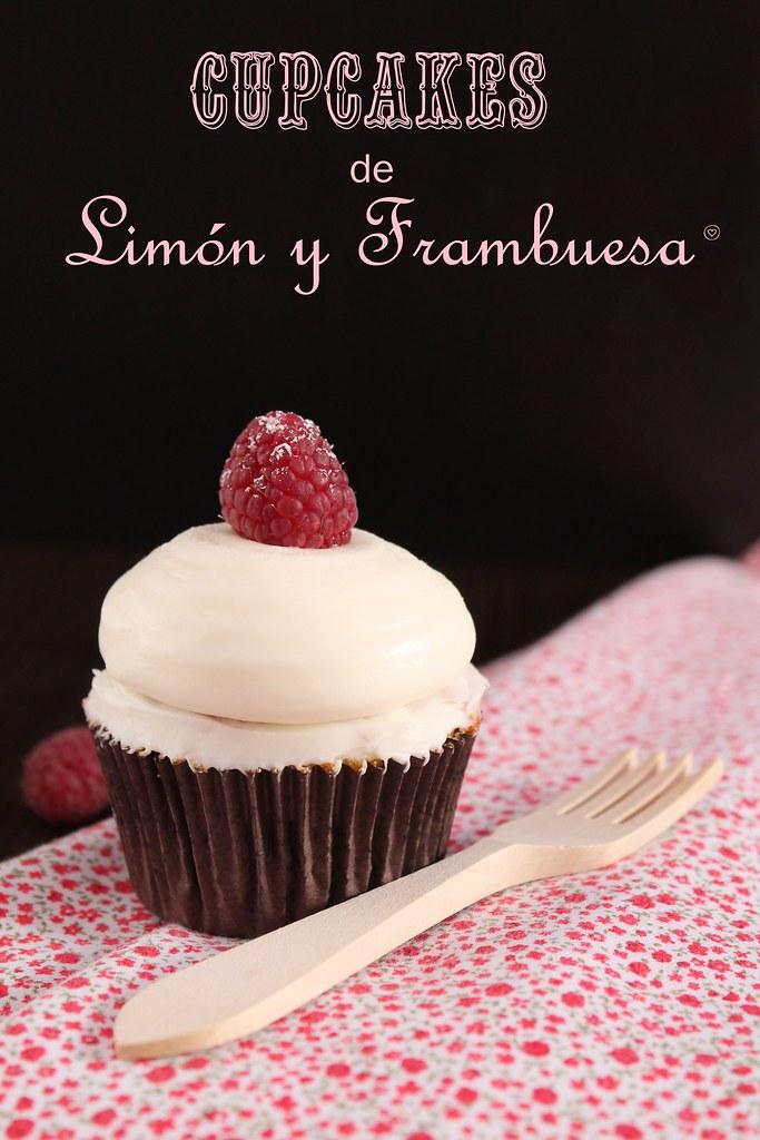 Cupcakes de limón y frambuesa