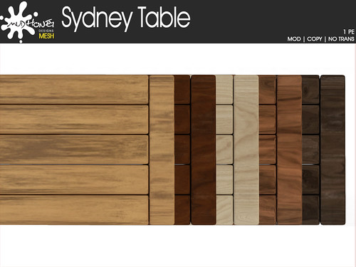 mudhoney sydney table