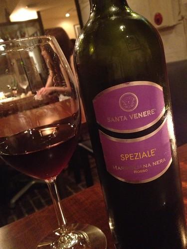 アラビアータに合わせたワイン[スペツィアーレ ロッソ 2009 サンタ ヴェーネレ SPEZIALE ROSSO 2009 SANTA VENERE@Desse