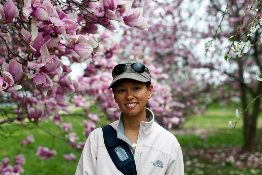 Glinda amidst the Cherry Blossoms.