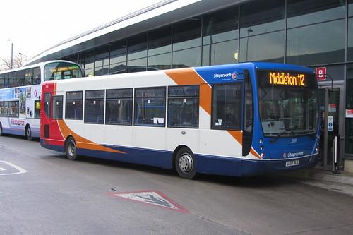 Plaxton Centro, Stagecoach Manchester LL07 BLU, Middleton Bus Station