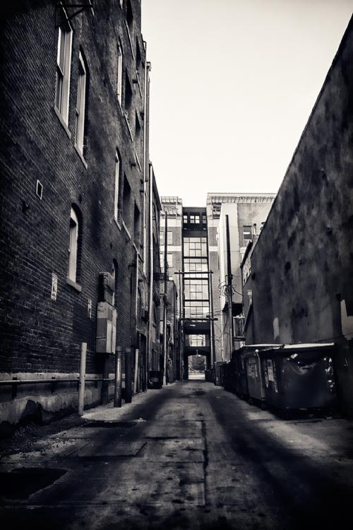 Mottled alley