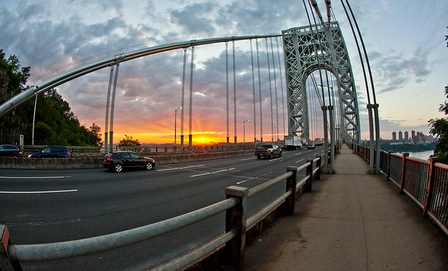 Sunrise at the George Washington Bridge