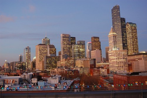 Downtown Seattle at Dusk