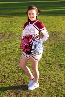 Girls Middle School Cheer Portraits