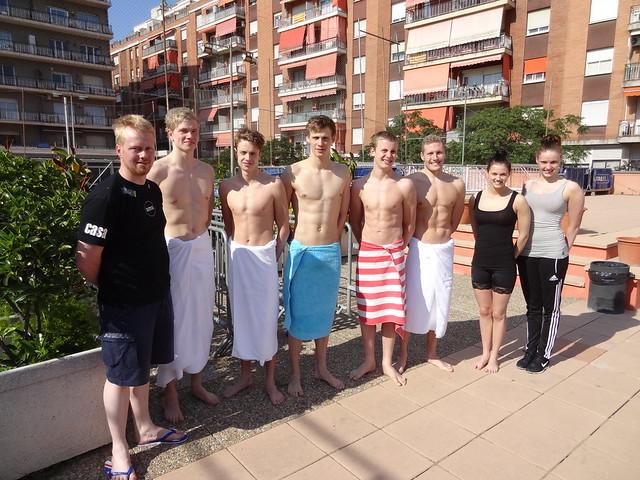 Team Faroe at the Barcelona 2013 Mare Nostrum meet