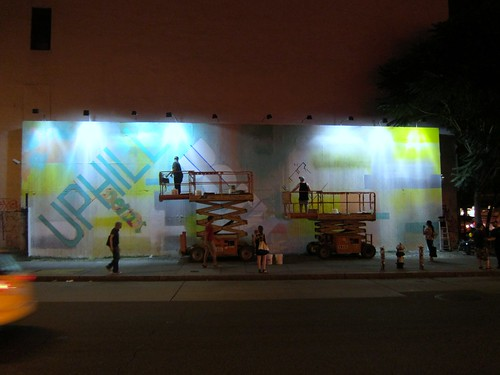 Revok and Pose bomb the Houston Bowery Wall by Scoboco
