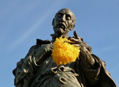 St. Ignatius with clown wig