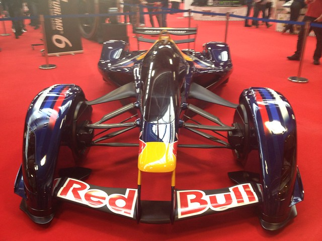 The Red Bull concept car at the Autosport International Show 2014