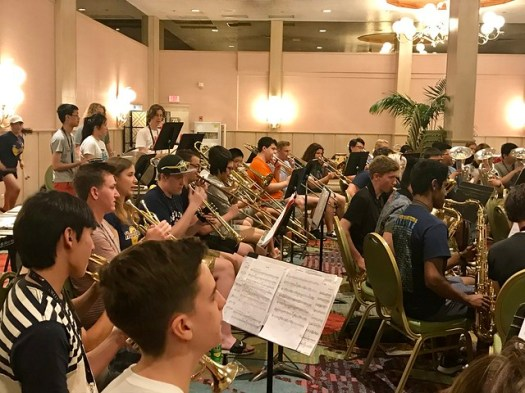 Awesome to work with the joint forces of the Rangitoto College Concert Band and the Las Vegas Academy Band this morning, and with their director Brian Downey. #PBMF2017 #hawaii #conductor #musicfestival #concertband #windband