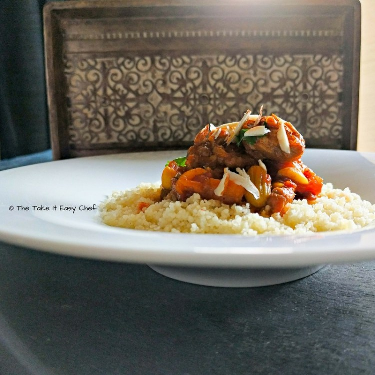 Moroccan Style Lamb Tagine served on a bed of Couscous