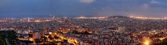 Barcelona des del Parc del Guinardó