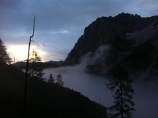 Blick Richtung Innferfeldtal, Sonnenaufgang