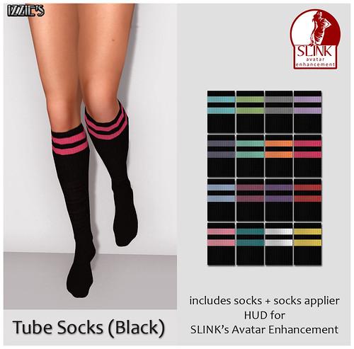 Tube Socks (Black)
