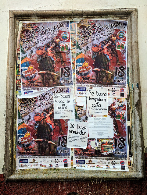 Rodeo posters. Lots of charro (cowboy) culture in Zacatecas.