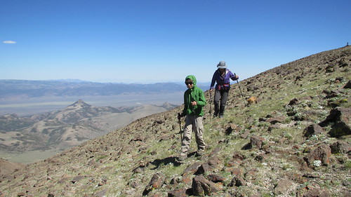 Climbing Mount Jefferson, NV