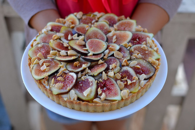 fig tart outside