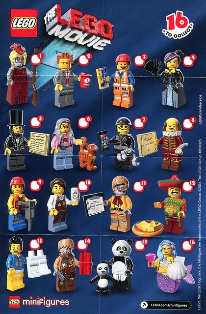 71004 LEGO Minifigures The LEGO Movie Series INS1