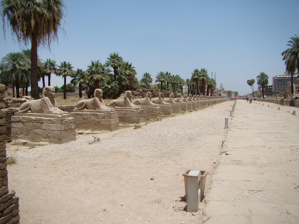 5. Templo de Luxor en la arena. Autor, iifu