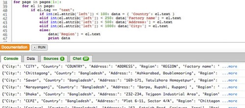 starting to get structured data