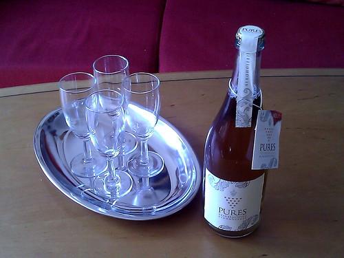 Pures Traubencuvée zur Begrüßung