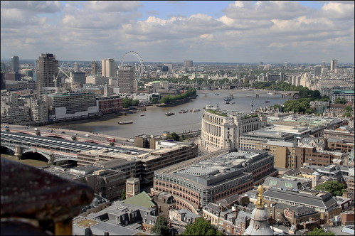 London: view from the St. Paul Cathedral's tower