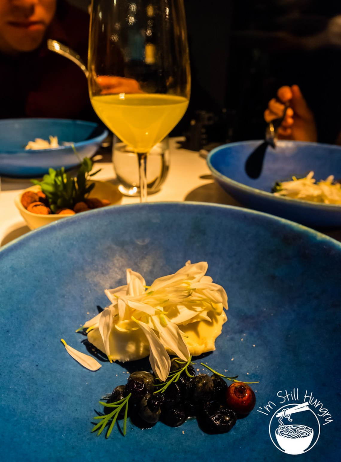 Blueberries, vinegar & fresh cheese Attica