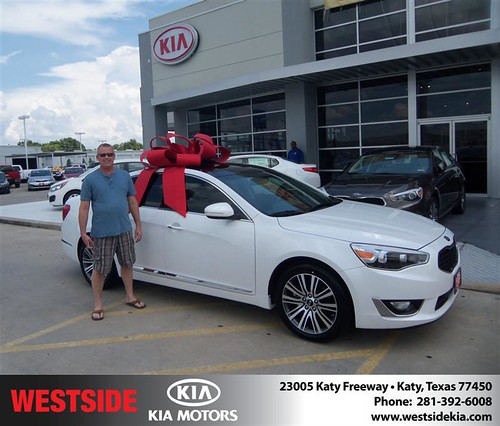 Westside Kia would like to say Congratulations to Rodney Maris on the 2014 Kia Cadenza from Elhallal Rizkallah by Westside KIA