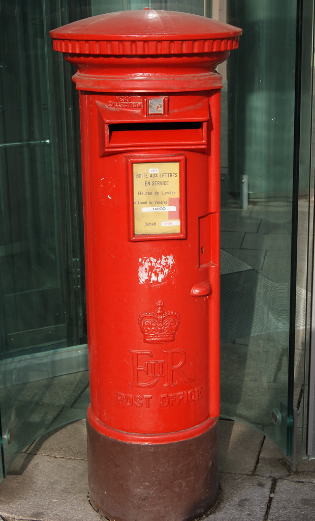 Boîte aux lettres britannique à Strasbourg