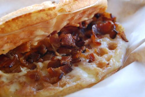 Cheese Waffle inside shot