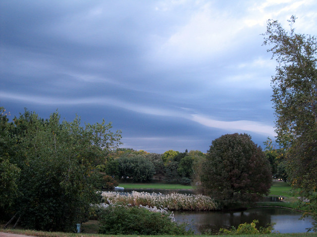 Como Park with a storm rolling in