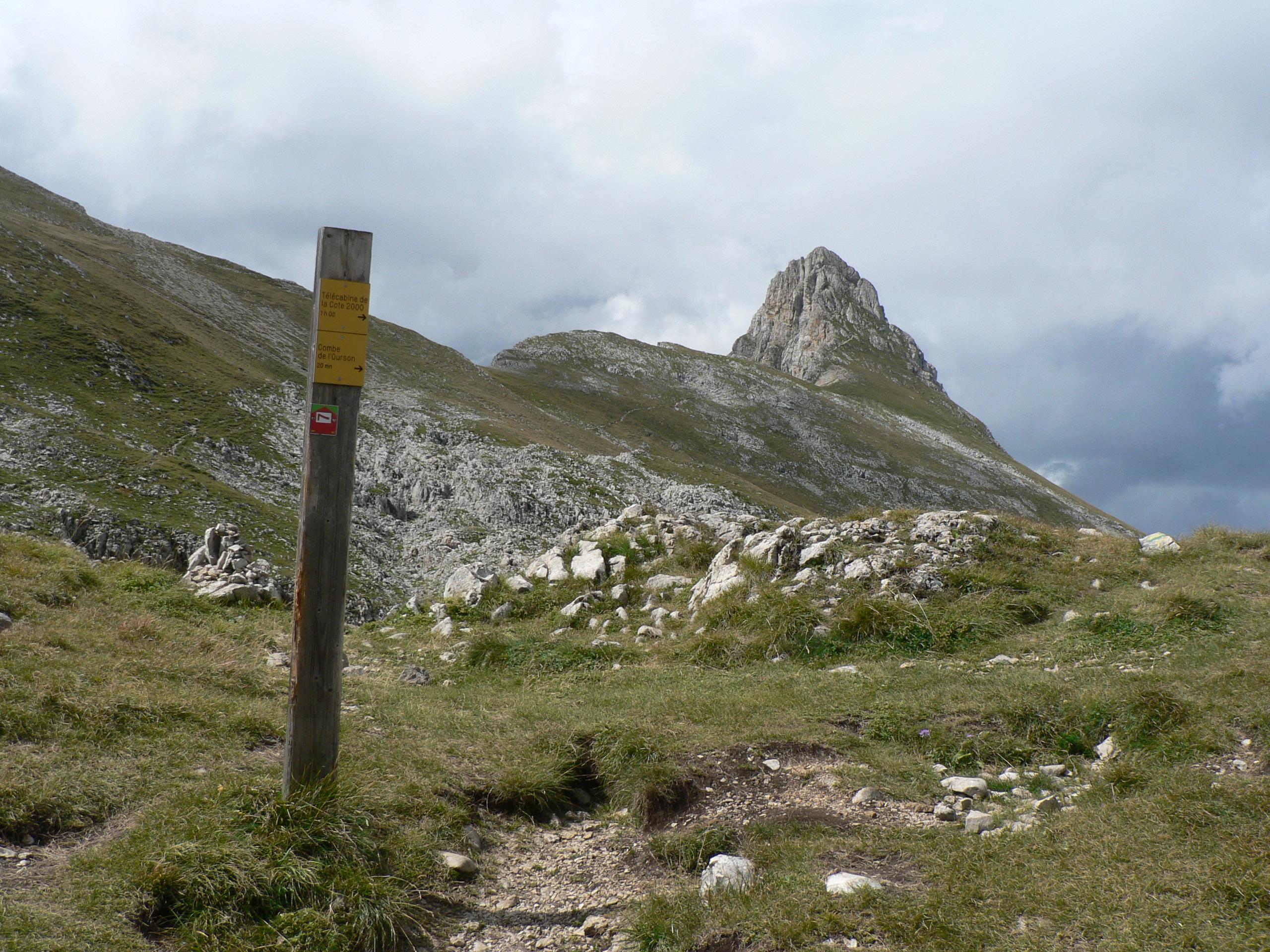 La Grande Moucherolle from the Col des Deux Soeurs