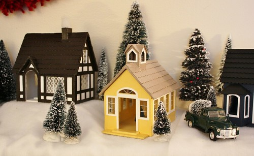 Fall Schoolhouse Wallpaper My Handmade Christmas Village Life At Cloverhill