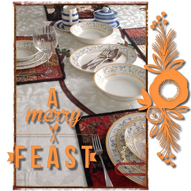 Dec 25 - the Christmas table {and so it begins...the calm before the storm} #photoaday #christmas #dinner #table #holidays #yumyum