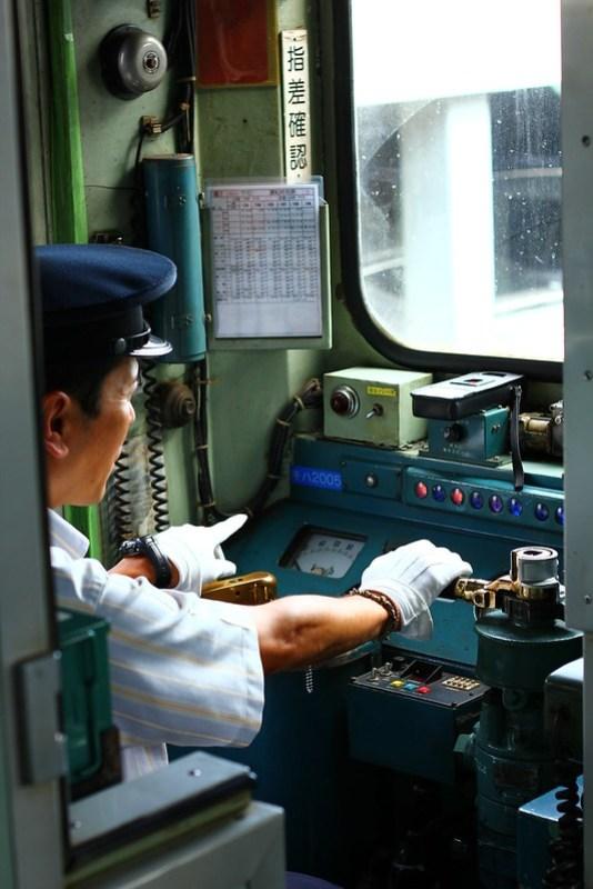 キハ2005貸切列車、勝田発車