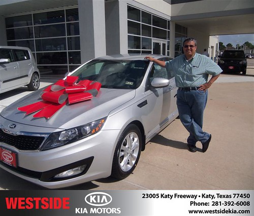 Thank you to Vicente Mederos on the 2013 Kia Optima from Gilbert Guzman and everyone at Westside Kia! by Westside KIA